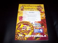 Motherwell v Dundee, 2001/02